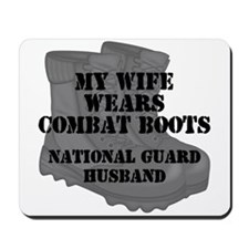 National Guard Husband Combat Boots Mousepad