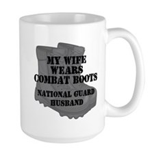 National Guard Husband Combat Boots Mugs
