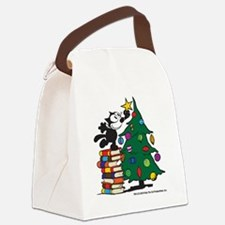 FELIX TOPPING THE TREE copy Canvas Lunch Bag