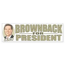 Sam Brownback 2008 Bumper Bumper Sticker