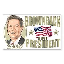 Sam Brownback 2008 Rectangle Decal