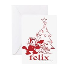 RED TREE copy Greeting Card