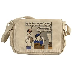 Duck at the Eye Doctor Messenger Bag