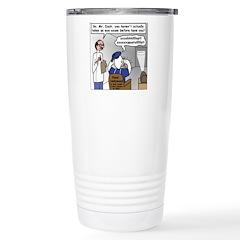 Duck at the Eye Doctor Travel Mug