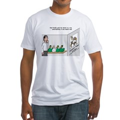 Ducks in a Row Fitted T-Shirt