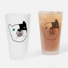 Tron's illustrated Head Drinking Glass
