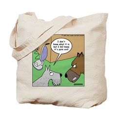 Dog and Vacuum Tote Bag