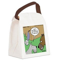 Dog and Vacuum Canvas Lunch Bag