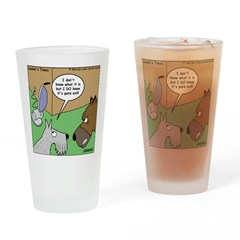 Dog and Vacuum Drinking Glass
