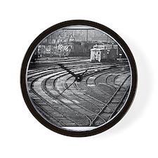 RR--Switching Tracks-1977- Ottumwa-Iowa Wall Clock