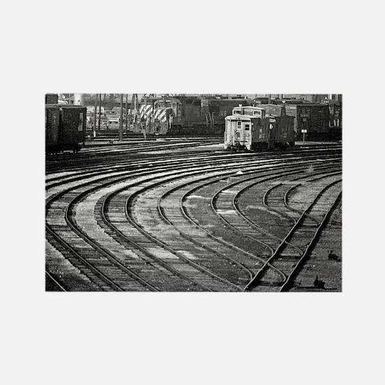 RR--Switching Tracks-1977- Ottumw Rectangle Magnet