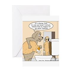 Dog Water Supply Greeting Card