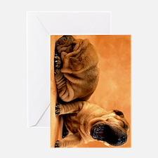 shar pei ipad Greeting Card