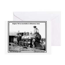 XRR- Engine 744 turntable Ottumwa-mo Greeting Card