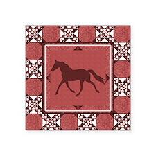 "MauvelSinglefoot Square Sticker 3"" x 3"""
