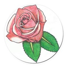 rose2edit Round Car Magnet
