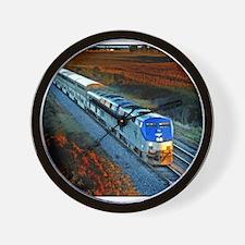 XRR-AMTRAK into sunset 2005 Engine #192 Wall Clock