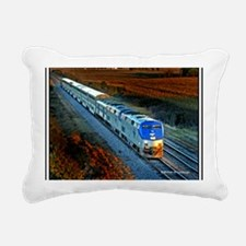 XRR-AMTRAK into sunset 2 Rectangular Canvas Pillow