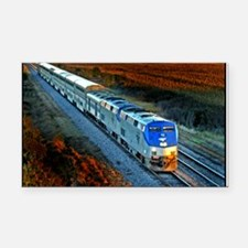 XRR-AMTRAK into sunset 2005 E Rectangle Car Magnet