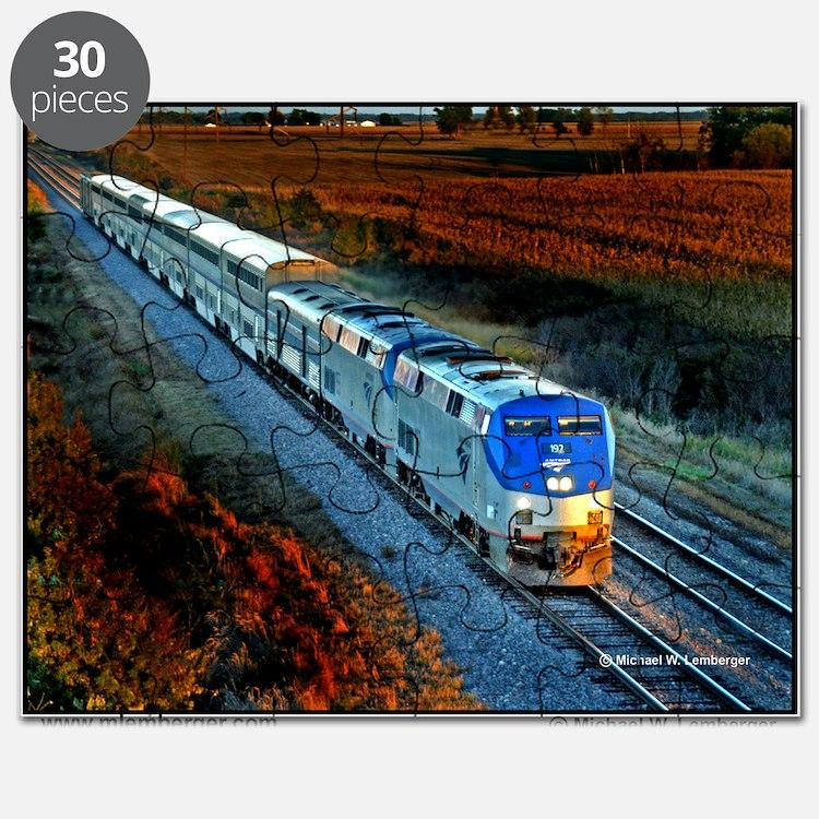 XRR-AMTRAK into sunset 2005 Engine #192  Io Puzzle