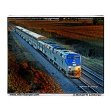 XRR-AMTRAK into sunset 2005 Engine # Throw Blanket