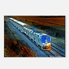 XRR-AMTRAK into sunset 20 Postcards (Package of 8)