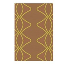 Brown and Golden Postcards (Package of 8)