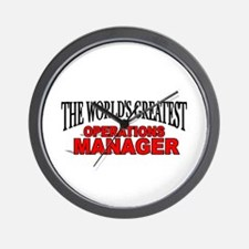 """""""The World's Greatest Operations Manager"""" Wall Clo"""