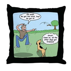 Dog Owners Throw Pillow