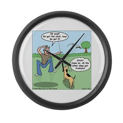 Dog Owners Large Wall Clock