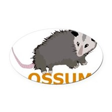 ossum_orange Oval Car Magnet
