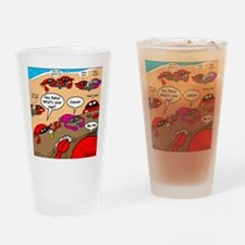 Crab Pickup Lines Drinking Glass