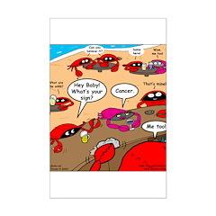 Crab Pickup Lines Posters
