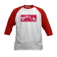 Red Hearts Ice Skate Tee