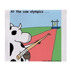 Cow Olympics Throw Blanket