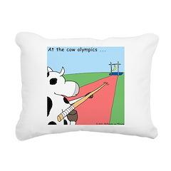 Cow Olympics Rectangular Canvas Pillow