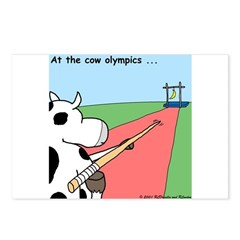 Cow Olympics Postcards (Package of 8)