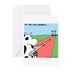 Cow Olympics Greeting Cards (Pk of 10)