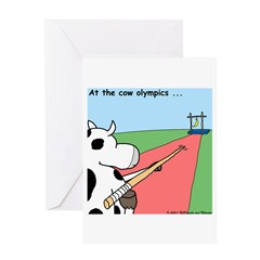 Cow Olympics Greeting Card