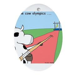Cow Olympics Ornament (Oval)