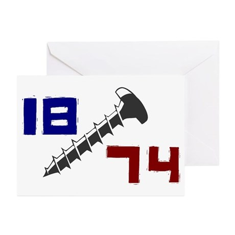 Getting Screwed Since 1874 Greeting Cards (Package