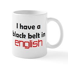 english black belt Mug