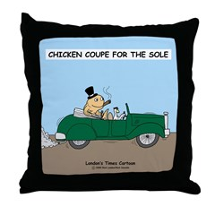Chicken Coupe for the Sole Throw Pillow