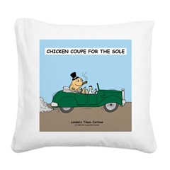 Chicken Coupe for the Sole Square Canvas Pillow