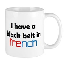 french black belt Small Mug