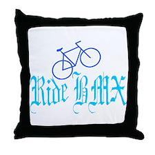 Ride BMX Throw Pillow