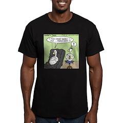 Chicken Love Men's Fitted T-Shirt (dark)