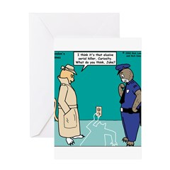 Curiosity Killed the Cat Greeting Card