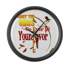 May the Odds Be Ever Large Wall Clock