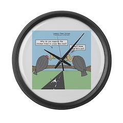 Impatient Buzzards Large Wall Clock